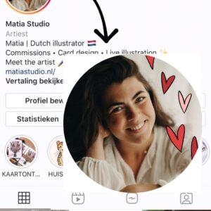Profielfoto met illustratie!